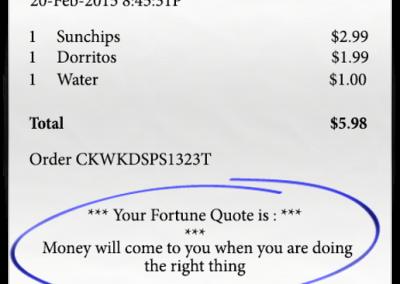 Fortune receipt